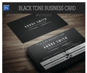 Black Tone Business Card 17