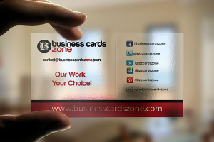 BusinessCardsZone Transparent Plastic Card