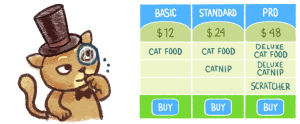 Easy Pricing Tables Lite by Fatcat Apps