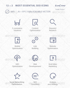 Essential SEO Icons