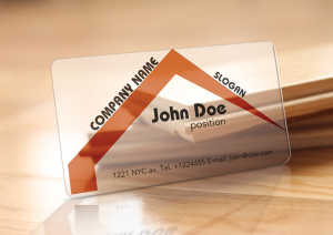 Free Translucent Plastic Realtor Business Card