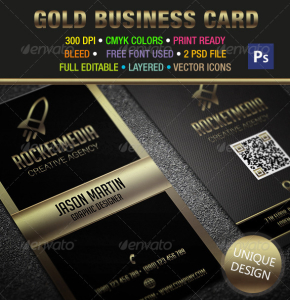 Gold & Black Business Card 302