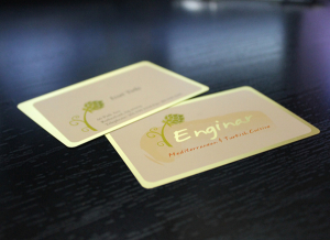 Gold Plastic Card