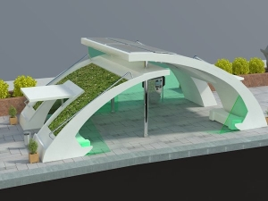 Green bus stop project
