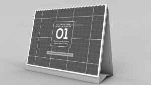 Horizontal Calendar Desk Mockup For A5