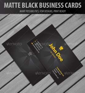 Matte Black Business Cards