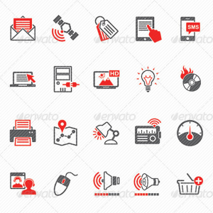 Media & Marketing Icons Set