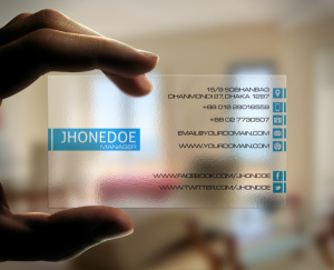 Modern Transparent Business Card