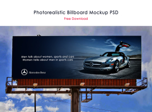 Photorealistic Billboard PSD (FREE)