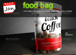 Plastic  Foil Food-Bag Mock-up