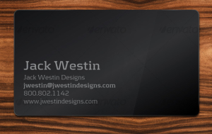 Prepped-4-Print- Sleek, Black Business Card