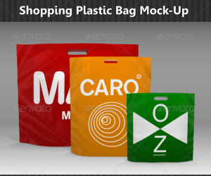 Shopping Plastic Bag Mock-Up