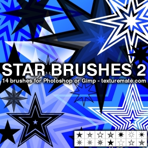 Star 2 Brush Pack for Photoshop or Gimp