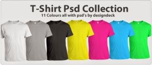 T-Shirt Design Template in 11 Colours