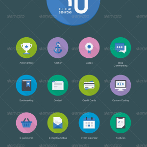 The Flat SEO Icons 50