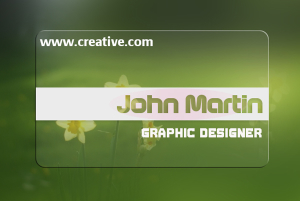 Transparent Business Card 5