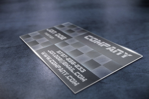 Transparent Business Card Design