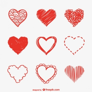 heart-sketches-vector-pack