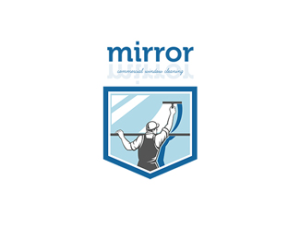 Mirror Commercial Window Cleaning Logo