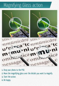magnifying glass action