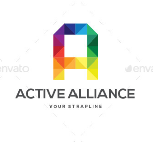 Active Alliance Letter A Logo