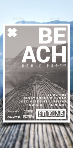 Beach House Party Flyer