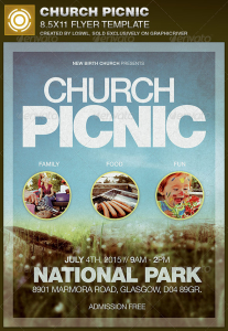 Church Picnic Flyer Template