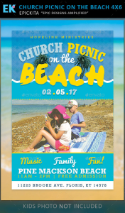 Church Picnic on the Beach Flyer