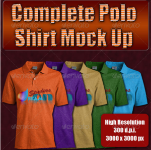 Complete Polo Shirt Mock Up