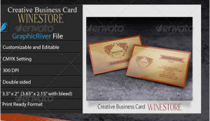 Creative Business Card – WineStore