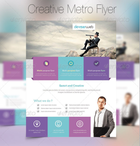 Creative Metro Style Business Flyer