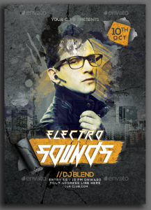 Electro Sounds Party Flyer