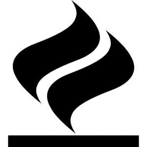 Fire double flame symbol