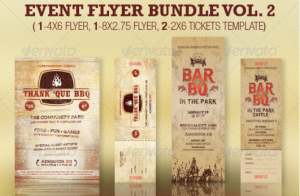 Flyer and Ticket Template Bundle Vol 2