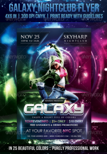 Galaxy Nightclub Flyer