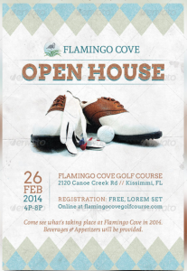Golf Open House Flyer Template