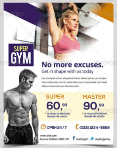 Gym : Fitness Flyers Pack