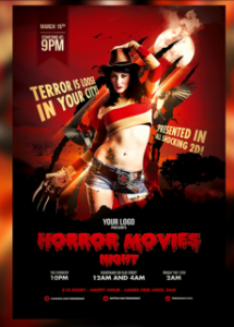 Horror Movies Themed Flyer