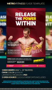 METRO Fitness Flyer Template
