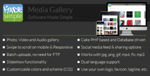 MadeSimple PhotoVideo Gallery Standalone or site Add-on
