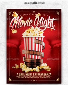 20 movie night flye templates design blog movie dat night flyer template maxwellsz