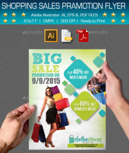 Multipurpose Shopping Sales Promotion Flyer