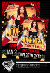NEW! BUY HERE - Movie Night Flyer Template