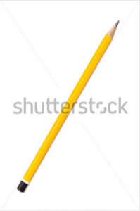 Old Pencil Isolated on Whit