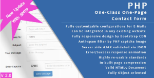 PHP One Page - One Class Contact form