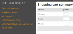 PHP Shopping cart