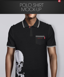 20 polo shirt mockup templates design blog for Free polo shirt mockup