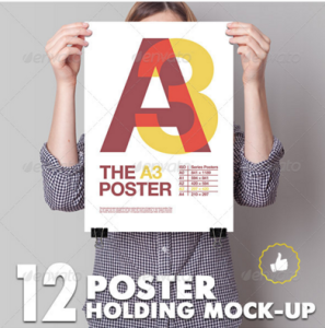 Poster Mockup : 12 Different Images