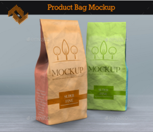 Product Paper Bags Mockup