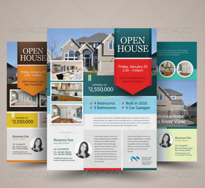 20 Open House Flyers Templates Design Blog – Real Estate Open House Flyer Template